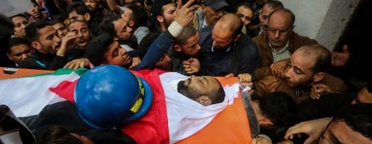 تشييع الشهيد الصحفي أحمد أبو حسين