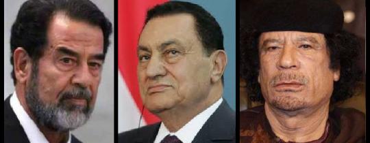 القذافي -مبارك- صدام