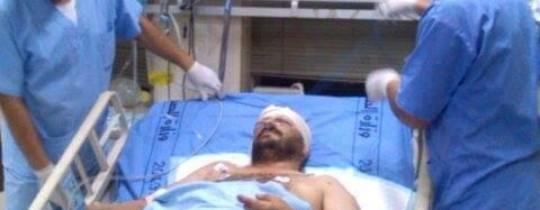 الحاج عامد قاسم أحد المصابين في الاشتباكات