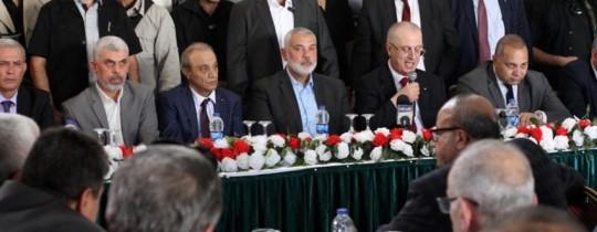 من لقاءات حماس والحكومة بعد توقيع اتفاق المصالحة - أكتوبر 2017