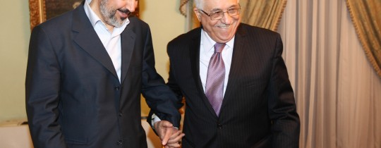 الرئيس محمود عباس و خالد مشعل
