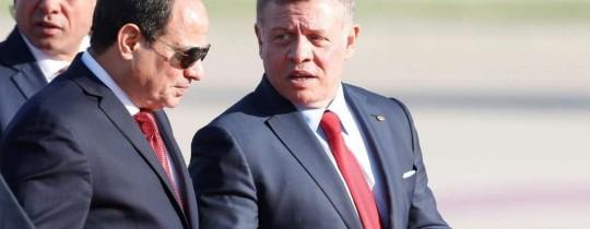 العاهل الأردني الملك عبد الله الثاني والرئيس المصري عبد الفتاح السيسي