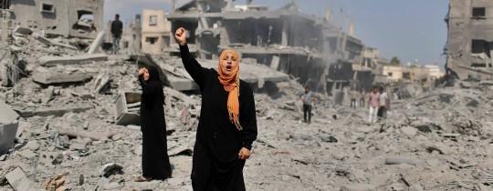 معاناة أهالي قطاع غزة في اعقاب العدوان لااسرائيلي الاخير
