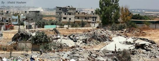 دمار المنازل و البنية التحتية في غزة بعد عدوان الاحتلال في صيف 2014
