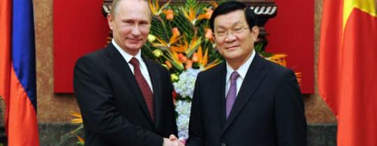 الرئيس الفيتنامي والرئيس الروسي
