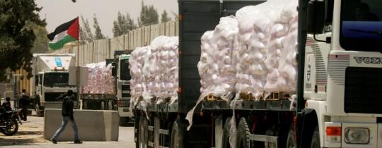 شاحنات المساعدات لغزّة