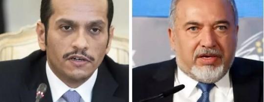 ليبرمان و محمد آل ثاني