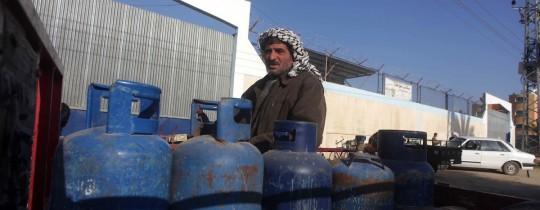 تعبئة الغاز في غزة