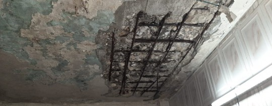 سقف أحد المنازل في مخيم عين الحلوة- ارشيف