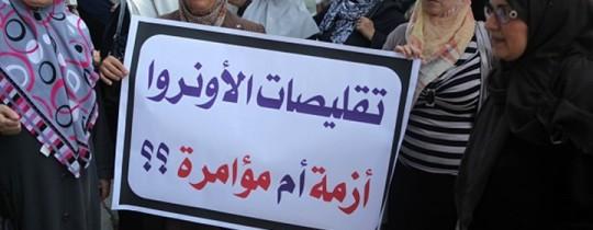 جانب من تظاهرة لموظفي الاونروا ضد التقليصات- أرشيف