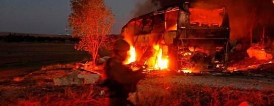 المقاومة الفلسطينية تستهدف حافلة صهيونية بصاروخ كورنيت قبل أيام