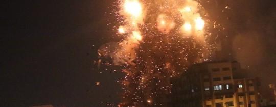جانب من الدمار الذي خلفه القصف الصهيوني على غزة الليلة - وكالات