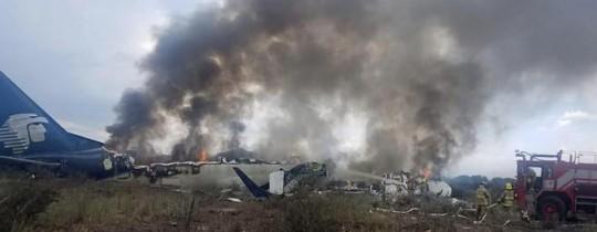 تحطم الطائرة المكسيكية - وكالات