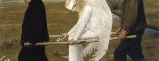 لوحة الملاك الجريح للفنان الفنلندي هوغو سيبمبيرغ