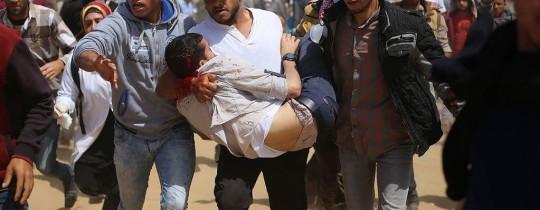 إصابة مُتظاهر شرق قطاع غزة في تظاهرات مسيرات العودة