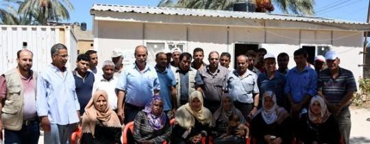 وفد من العمل الزراعي يقوم بزيارة ميدانية للجان وفروع الاتحاد في قطاع غزة