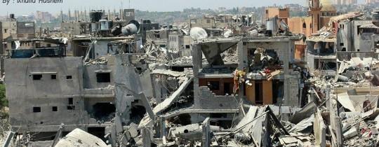 الدمار الذي خلّفه الاحتلال بعد عدوان استمر 51 يوماً على قطاع غزّة