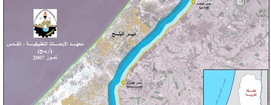 خريطة لقطاع غزة عام 2007