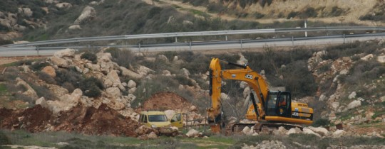 ارشيفية - الاحتلال يجرف اراضي في بيت لحم