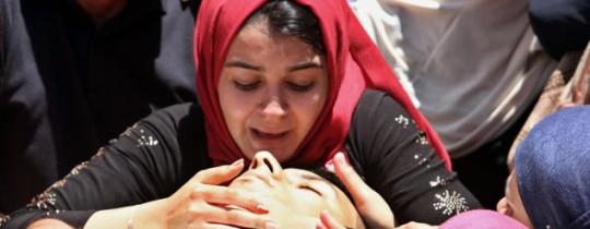 في وداع شهيد فلسطيني