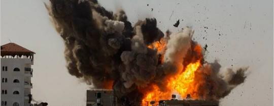 صورة من العدوان الصهيوني على غزة 2014