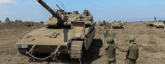 من تدريب الجيش الصهيوني في الجولان المحتل
