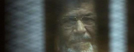 مرسي في قاعة المحكمة