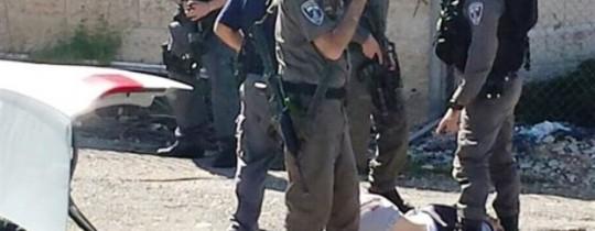 مشهد من عمليّة القدس أمس