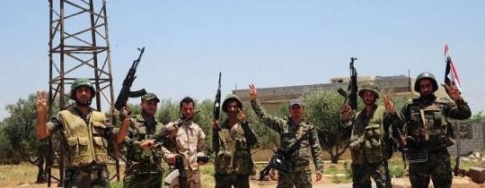 قوات الجيش السوري بعد تحريره قرى من قبضة المسلحين - 2018 (وكالات)