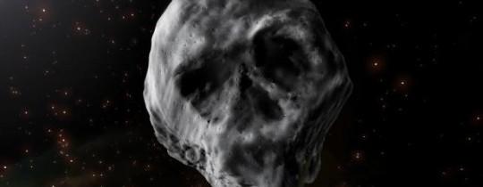 شكل المذنّب كما تمّ رصده وهو يتّخذ شكل جمجمة - وكالات