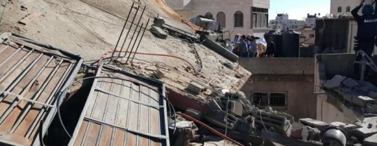 رُكام منزل فلسطيني بعد هدمه من قبل آليات الاحتلال الاسرائيلي في الضفة الغربية المحتلة - ارشيف