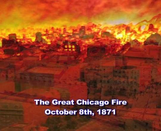 لوحة لحريق شيكاجو