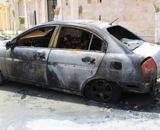 أرشيف: سيارة محترقة