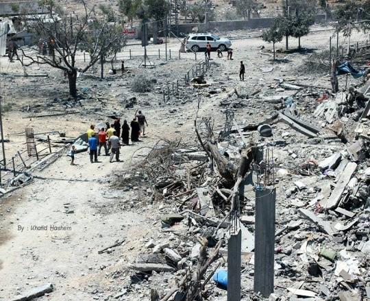 الدمار الذي خلّفته الحرب الصهيونية على غزة- بيت حانون
