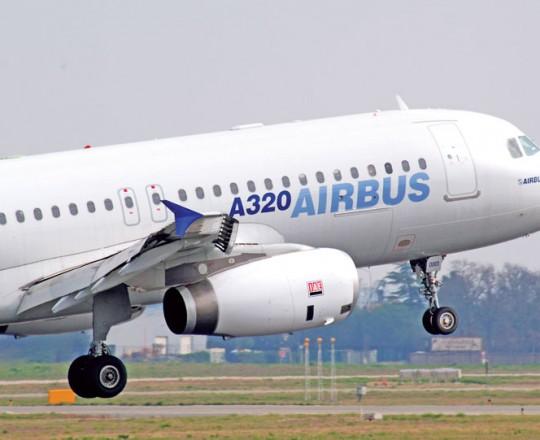 الطائرة المتحطمة من نوع إيرباص A320