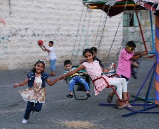 فرحة الأطفال في العيد - غزة