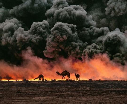 أرشيفيّة - اندلاع حريق في بئر نفط
