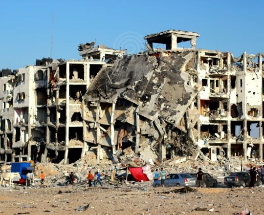 آثار العدوان الإسرائيلي على شمال قطاع غزة