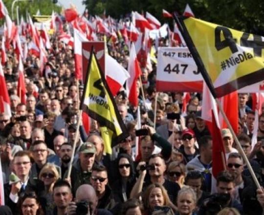 """تظاهرات في بولندا رفضاً للتدخّل الأمريكي بشأن """"استعادة الأملاك اليهوديّة"""""""
