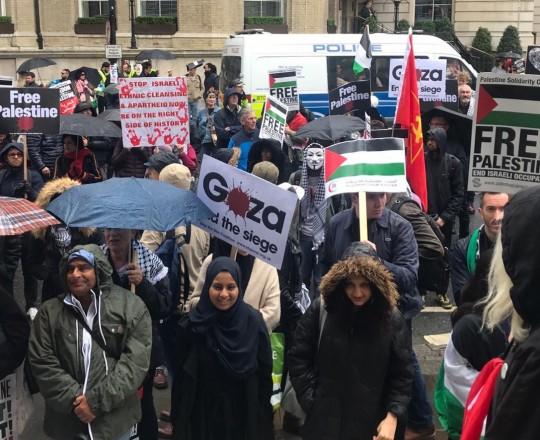 تظاهرة سابقة داعمة لفلسطين