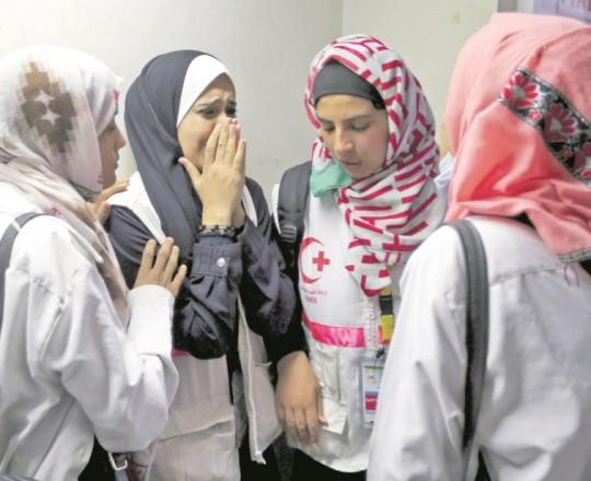 زميلات رزان بعد استشهادها