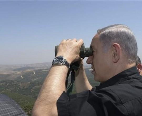 نتنياهو على الحدود اللبنانية
