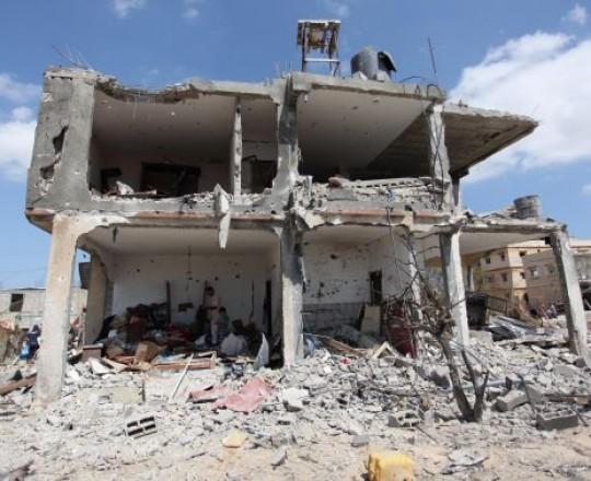 الدمار الذي خلّفه عدوان الاحتلال على غزّة صيف 2014 - شرق خانيونس