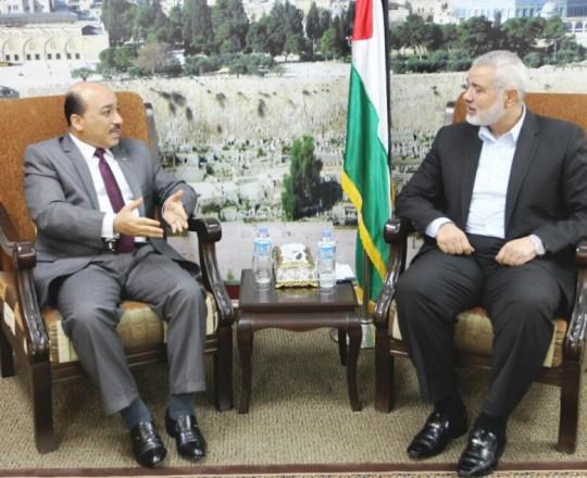 الحساينة يطمئن هنيه حول قضية موظفي غزة