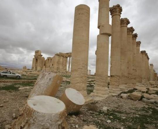 دمار طال آثار تدمر بسبب الحرب في سوريا