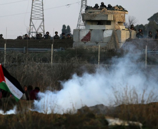 مواجهات على الحدود الشرقية لمدينة غزة