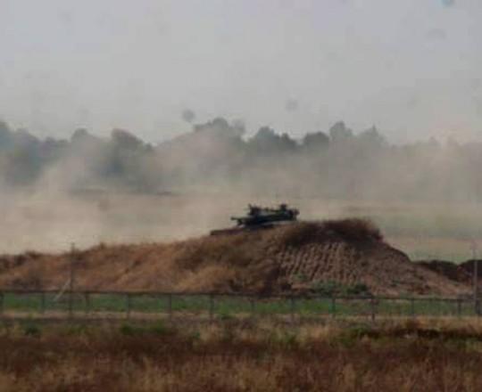 الأراضي الحدودية شرق غزة