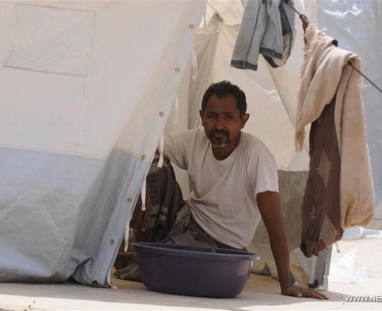 النازحين اليمنيين الذين فروا من الحديدة (شينخوا)