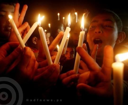 تزايد المظاهرات ضد استمرار أزمة الكهرباء بالقطاع
