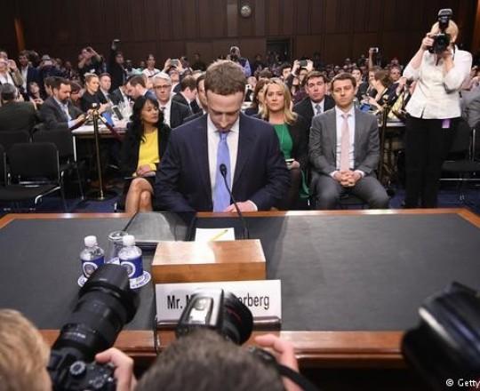 مارك زوكربيرج امام الكونغرس (أرشيف)